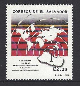 EL SALVADOR ASSOCIATION of BROADCASTERS, RADIO DAY Sc 1330 MNH 1992