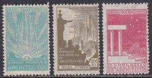 Brazil Sc #312-314 Mint no gum