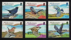 Alderney Residential Birds 2nd series Passerines 6v SG#A316-A321 SC#297-302