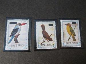 St. Thomas & Prince Islands 1999 Sc 1361-3 Bird set MNH
