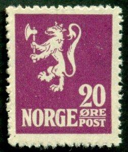 NORWAY #101, Mint Never Hinged, Scott $51.00