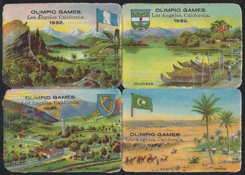 1932 Olympic Games Cinderella Poster Stamp Embossed Block4 Los Angeles (Set 3)