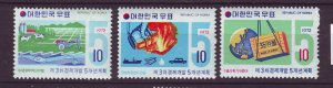 J24490 JLstamps 1972 south korea mh set #827-9 designs