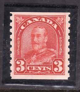Canada-Sc#183- id5-Unused NH og 3c KGV Arch/Leaf coil-1930-31-