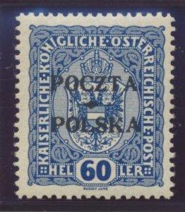 Poland Stamp Scott #48, Mint Hinged - Free U.S. Shipping, Free Worldwide Ship...