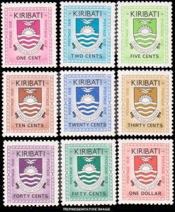 Kiribati Scott J1-J9 Mint never hinged.