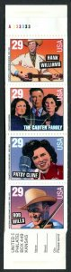 U.S. Scott 2775-2778 MNH Intact Country & Western Singers Booklet