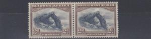 SOUTH WEST AFRICA  1931  S G 76  2D  BROWN & BLUE    MH  LIGHTLY TONED