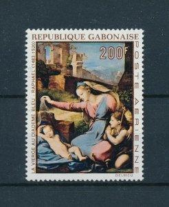 [104637] Gabon 1970 Art painting Madonna with child Raphael From set MNH