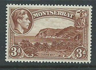 Montserrat SG 106a Mint Very Light Hinge  perf 14
