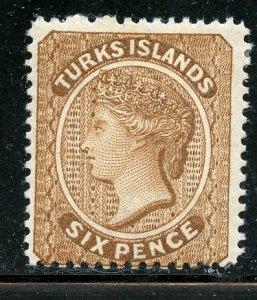 Turks Islands # 46, Mint Hinge Remain. CV $ 4.50