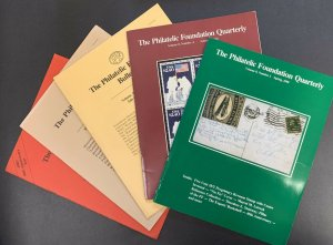 The Philatelic Foundation Bulletin and Quarterly, 5 Issues, 1984-1990
