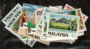 Malaysia Scott 320-25, 337-49 Mint NH (1986 Commemorative Year Set) - CV $64.90