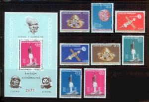PARAGUAY 1964 MNH SC.814/821+821a Rockets and Satellites,Space