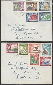 PITCAIRN 1958 QE set to 2/6d on cover to New Zealand.......................29718