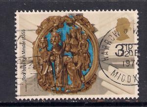 GB 1974 QE2 3 1/2p Christmas  Used Stamp SG 966  ( K710 )