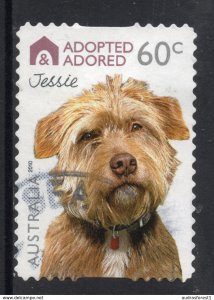 ADOPTED ADORED - JESSIE postally used 60c BOOKLET SELF-ADHESIVE stamp from AUSTR