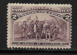 UNITED STATES, 231, MINT HINGED,LANDING OF COLUMBUS