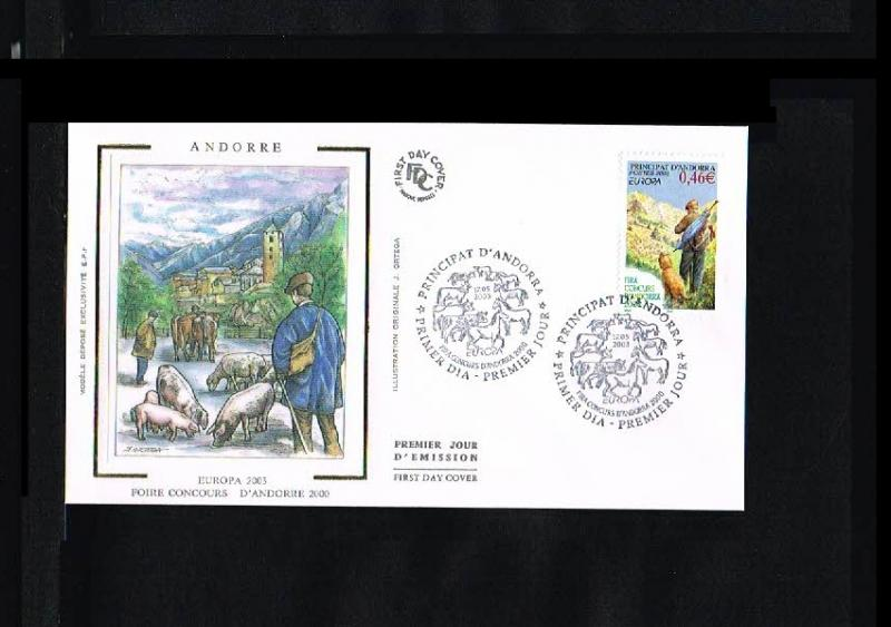 2003 - Europe CEPT FDC Andorra (French) Mi.601 [HY044]