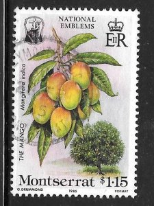 Montserrat 551: $1.15 Mango, used, VF