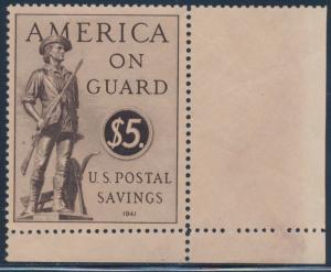 #PS15 $5 1941 US POSTAL SAVINGS JUMBO OG NH BT9218