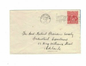 APH1466) Australia 1931 2d Red KGV Die III Small Cover