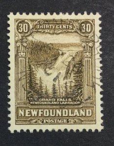 MOMEN: NEWFOUNDLAND #208 1931 USED XF £50+ LOT #7005