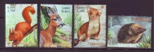 J20369  jlstamps 2001 france mnh set #2809-12 wildlife