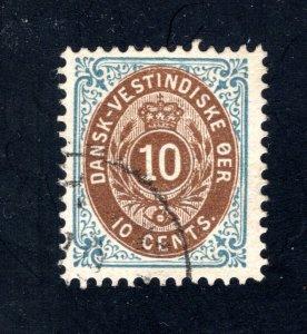 Danish West Indies #20,  F/VF,  Used  CV $150.00 ....1630017
