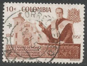 COLOMBIA 696 VFU Z6857-4