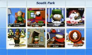 SOUTH PARK SITCOM Sheet Perforated  Mint (NH)