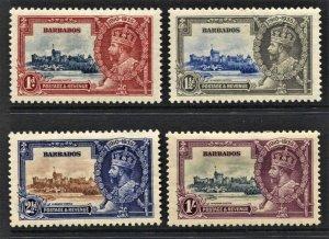 STAMP STATION PERTH  Barbados #186-189 Silver Jubilee Set - MNH & MLH- CV$40.00