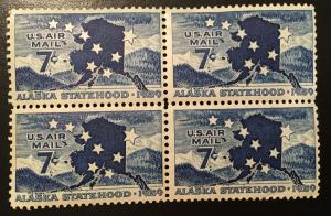 C53 Alaska Statehood, MNH, Block Vic's Stamp Stash