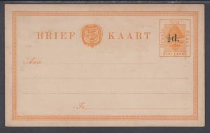 Orange Free State H&G 5 mint 1891 ½p surcharge on 1p orange Postal Card