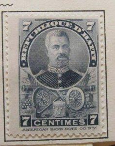 A6P26F56 Haiti 1898-99 7c mh*