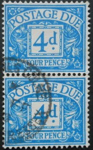 Great Britain 1951 Postage Due Four Pence SG D38 used