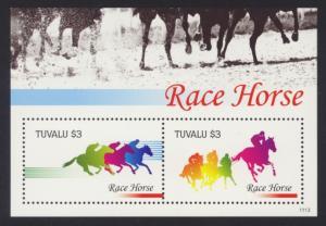 Tuvalu Sc# 1190 MNH Race Horse (S/S)