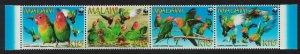 Malawi WWF Lilian's Lovebird 'Agapornis lilianae' 4v Strip SG#1041-1044