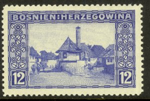 BOSNIA AND HERZEGOVINA 1912 12H JAICE Issue Sc 62 MLH