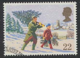 GB SG 1527 SC# 1341 - Used First Day Cancel - Christmas
