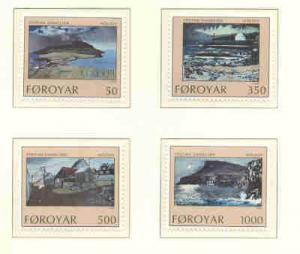 Faroe Islands Sc 212-5 1990 Danielsen Paintings stamp set mint NH