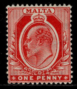 MALTA EDVII SG49, 1d red, M MINT.