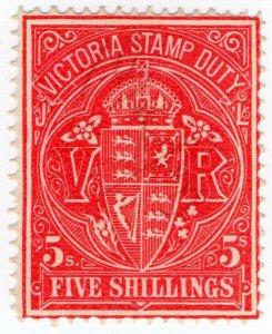 (I.B) Australia - Victoria Revenue : Stamp Duty 5/-