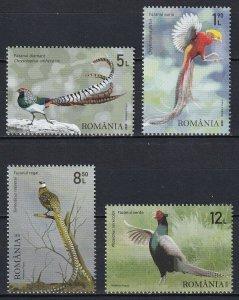 Romania 2020 Birds 4 MNH stamps