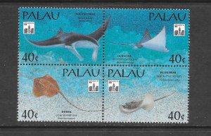 FISH - PALAU #322 RAYS  MNH