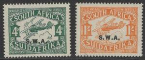 SOUTH WEST AFRICA SG70/1 1930 AIR STAMPS MTD MINT