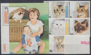 Stamps Benin 668-673 Mint Never Hinged Mnh 1995 Cats Benin
