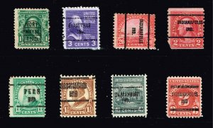 US STAMP PRECANCEL STAMPS COLLECTION LOT  #4 INDIANA