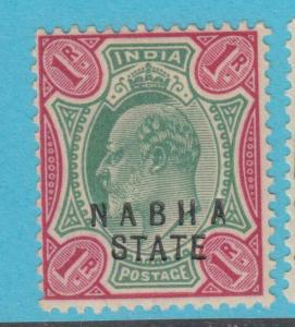 INDIA NABHA 36 MINT HINGED OG * NO FAULTS EXTRA FINE !