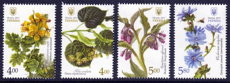 2017 Ukraine Stamps Medical Melliferous Flora Flower Plants SET MNH UMM